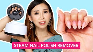 Steam Nail Polish Remover- Does it work? | TINA TRIES IT