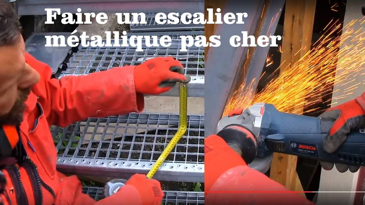 fabriquer son escalier metallique pas cher