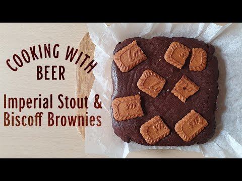 Imperial Stout & Biscoff Brownies | The Craft Beer Channel