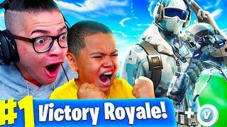 *NEW* FROSTBITE SKIN IS INSANE! BEST 10 YEAR OLD LITTLE KID FORTNITE BATTLE ROYALE PLAYER EVER!