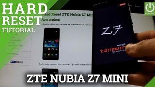 Hard Reset ZTE Nubia Z7 Mini - Wipe All Data by Factory Reset