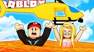 LAWA WANTS TO HUNT US DOWN! Who will survive? 🔥 (Lava Survival Game Roblox)   BELLA AND VITO