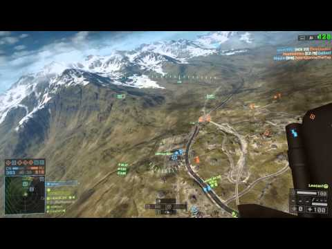 Battlefield 4 STEALTH JET Dogfight 20MM CANNON, LASER GUIDED, ECM JAMMER, GYRO STABILIZER Golmud Rai