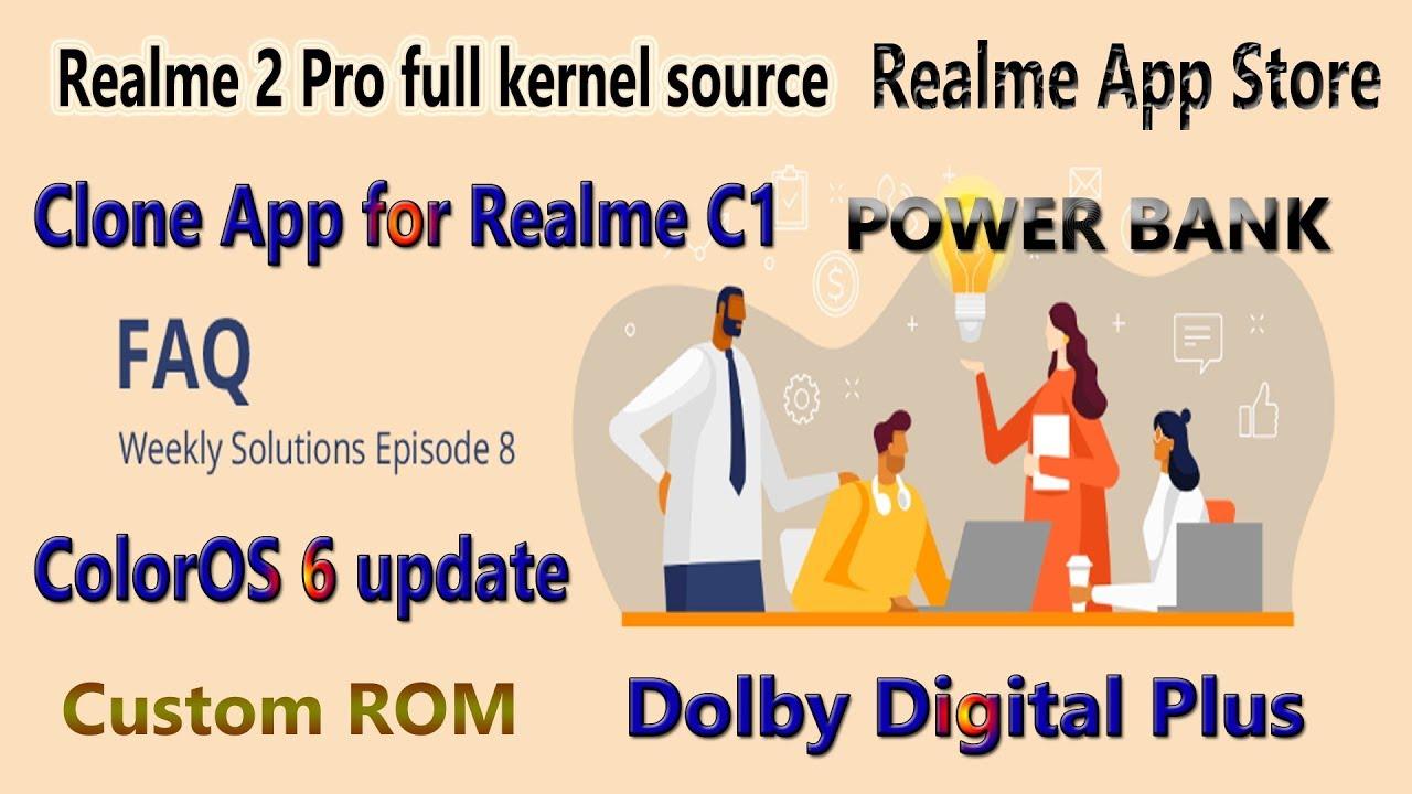 Realme FAQ #8 | Realme custom ROM & Realme C1 clone app feature | Realme  android pie 9 update