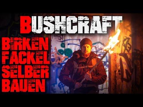 DIY Bushcraft Birken Fackel selber bauen - Feuer Messer - Outdoor Survival Deutsch Deutschland