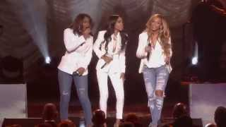 "Michelle Williams performs ""Say Yes"" with Kelly Rowland and Beyonce..."