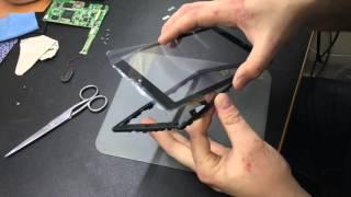 замена тачскрина на планшете Texet