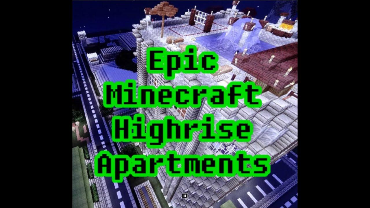 Epic Minecraft Highrise Apartments Penthouse Suite