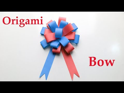 How To Make An Origami Bow - Diy Easy Paper Bow - Paper Crafts -How To Fold A Paper Bow