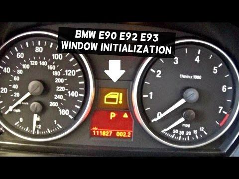 BMW Window not Working HOW TO INITIALIZE WINDOW REGULATOR WITH