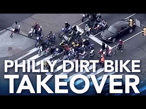 Dirt bike riders take over Philadelphia streets