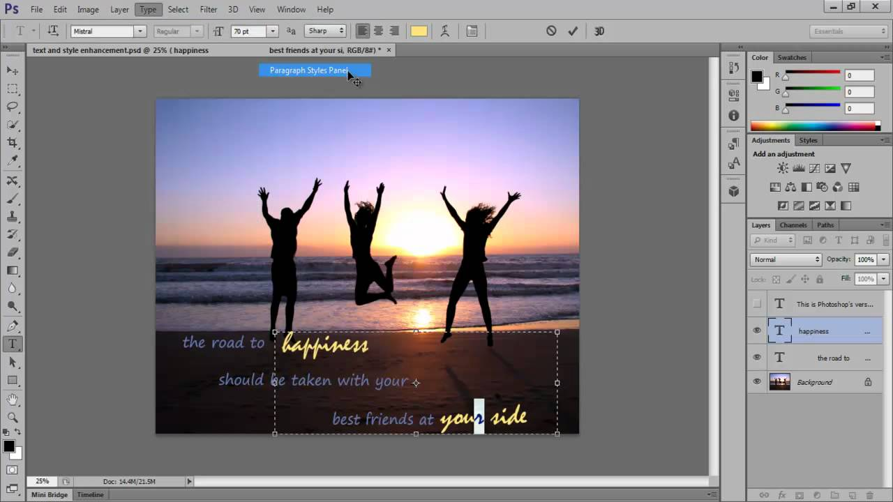 Shifting from Photoshop CS5 to CS6 - Text and Style Improvements - YouTube
