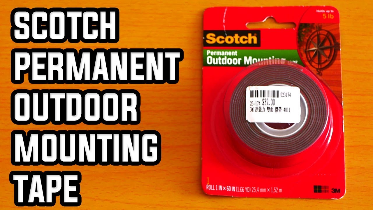 scotch permanent outdoor mounting tape review for mouting acoustic