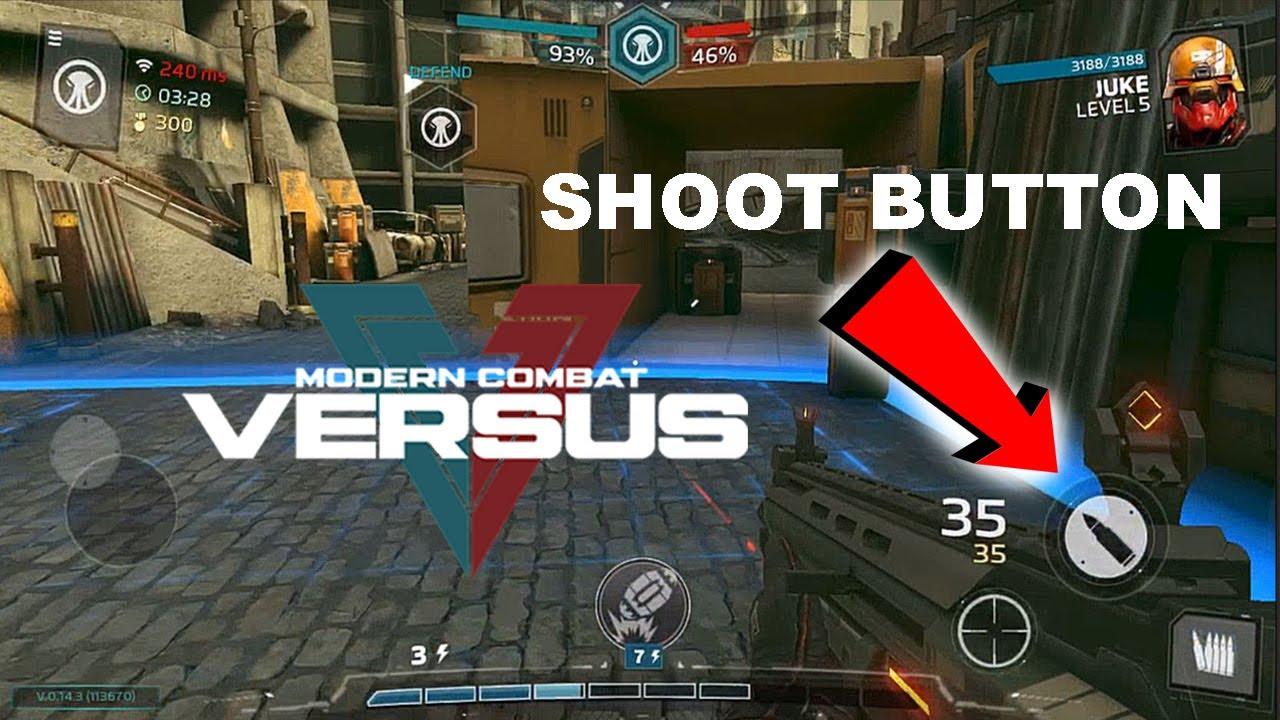 Download MODERN COMBAT VERSUS - SHOOT BUTTON GAMEPLAY ( New Update )