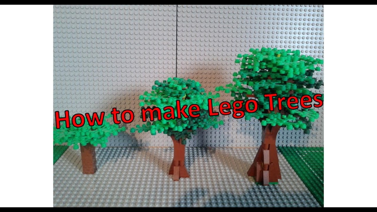 How To Make Lego Trees Youtube