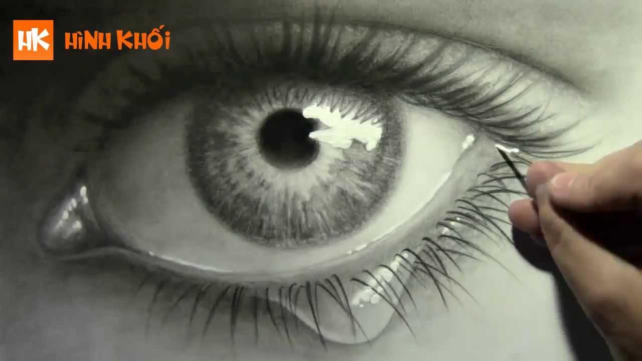 Vẽ mắt người tuyệt đẹp