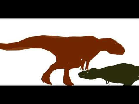 Giganotosaurus Vs Tarbosaurus [Remake]