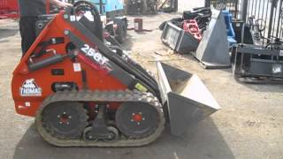 i 93 thomas 25gt mini skid steer compact tractor loader