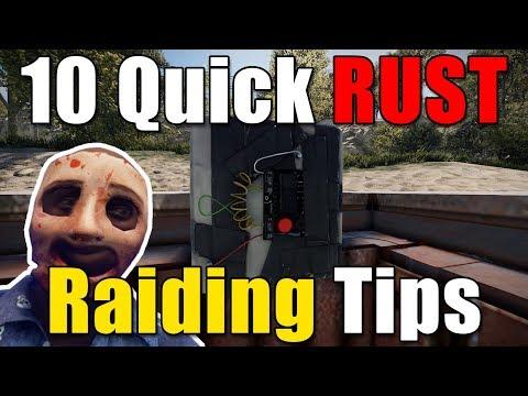 Malonik's 10 Quick RUST Raiding Tips 2018 - Corrosion Hour