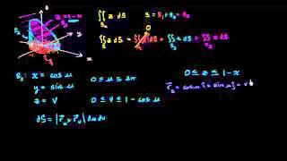 التكامل السطحي مثال 3 (جزء 1)