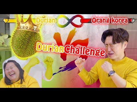 CHALLENGE | PERTAMA KALI MAKAN DURIAN | ORANG KOREA