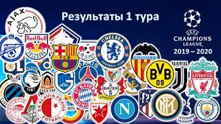 Лига Чемпионов 2019 - 2020 / 1 тур / Результаты