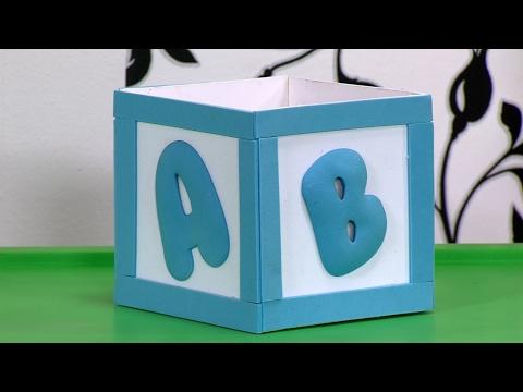 Como Decorar una Caja para Baby Shower- HogarTv por Juan Gonzalo Angel