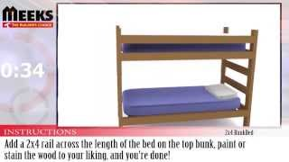 Meek's In Under A Minute: 2x4 Bunkbed