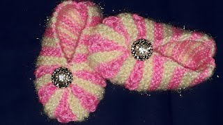 new knitting design|new booties design|baby bsocks|booties|socks|2 to 3 month baby booties
