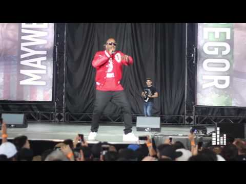 Mayweather vs McGregor Press Conference: OVO's Baka Performs 'Live Up To My Name'
