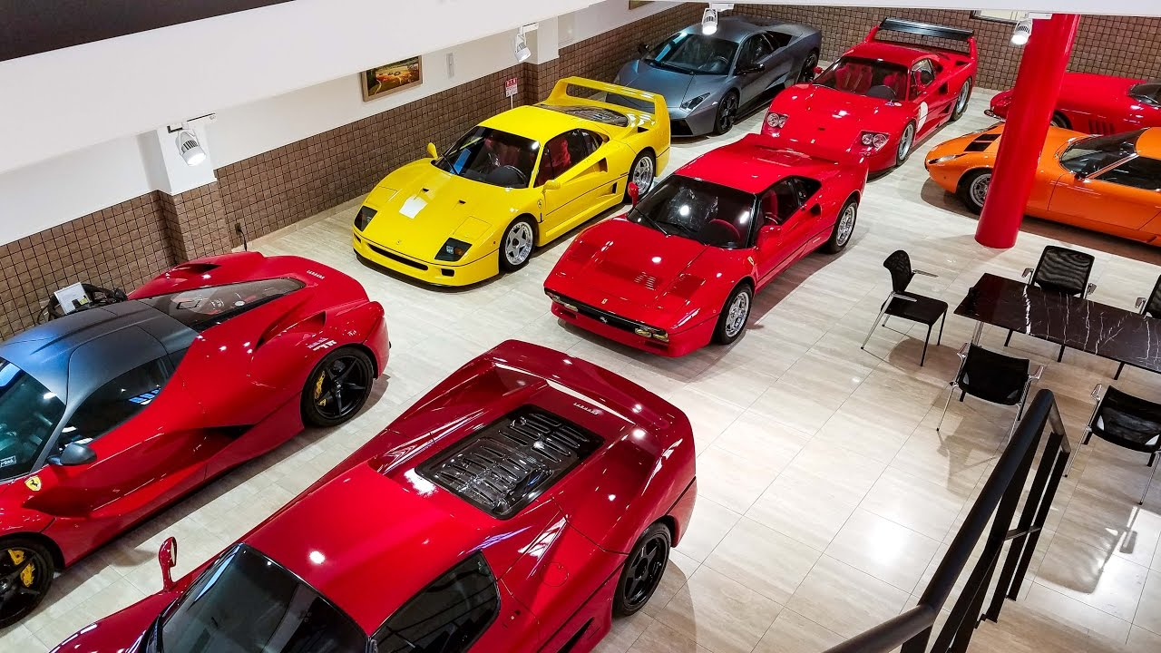 019f02bb00 The Most Pristine Ferrari Collection in Japan - YouTube