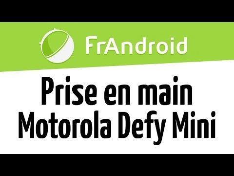 Prise en main du Motorola Defy Mini