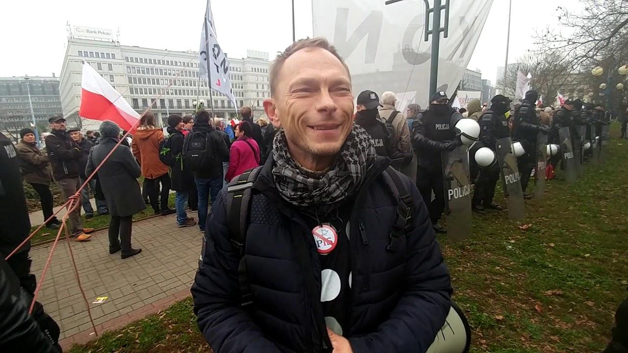Kontrmanifestacja Obywatele RP na Marsz Niepodległości 2018 - Relacja Transmisja Komentator