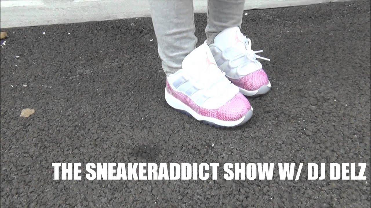 409c9b3ed93 2013 Air Jordan 11 Pink Snakeskin XI Shoe Review + On Feet W  Dj Delz   Co