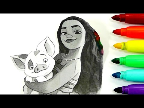 ROTULADORES MÁGICOS DE MOANA - VAIANA CON DIBUJOS SORPRESA. Color Wonder Moana De Crayola/ DIVER+