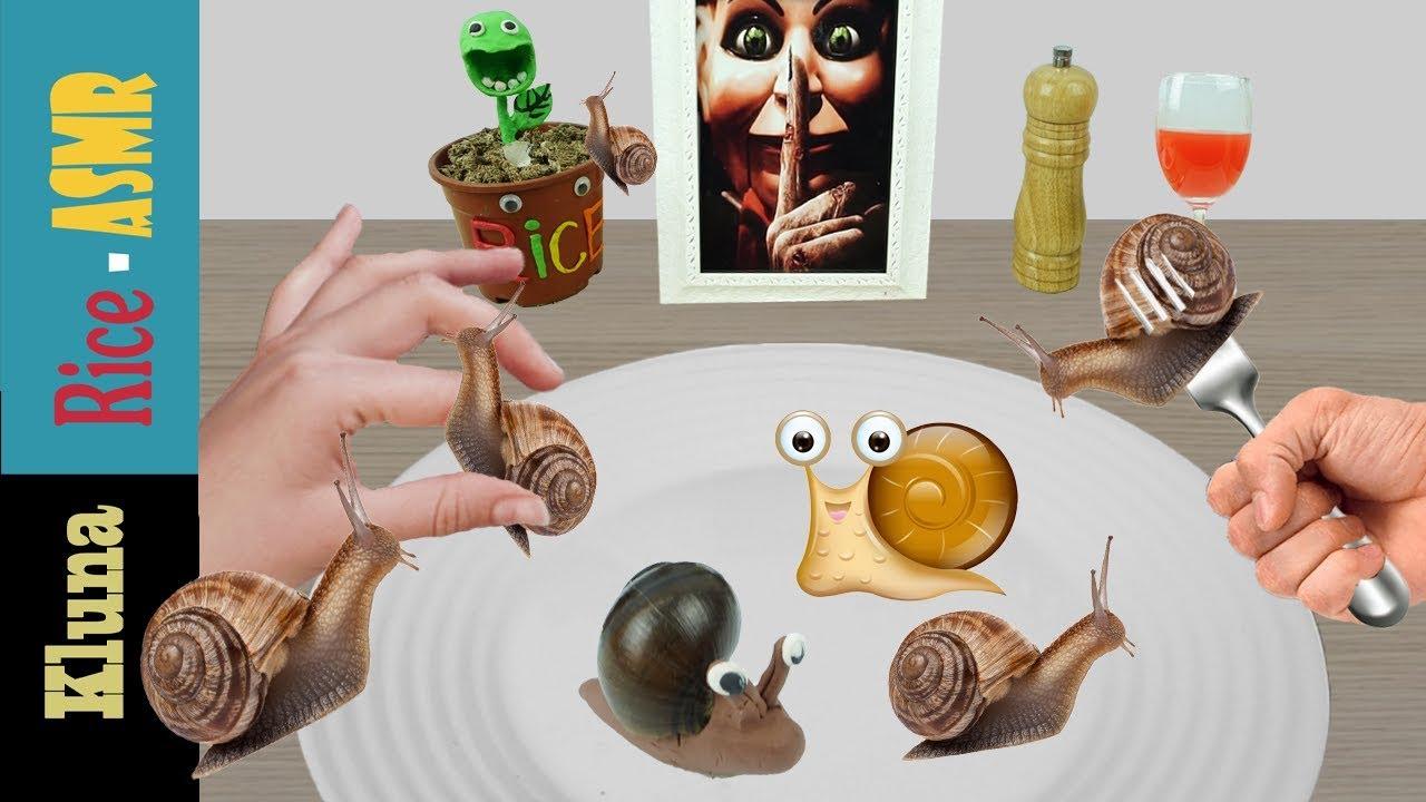 Kluna Tik And Rice Eating Snails Kluna Tik Style Dinner 48 Asmr Eating Sounds No Talk