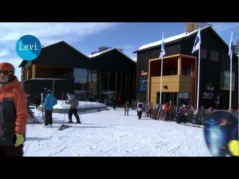 Winter and spring in Levi mountain resort in Finnish Lapland