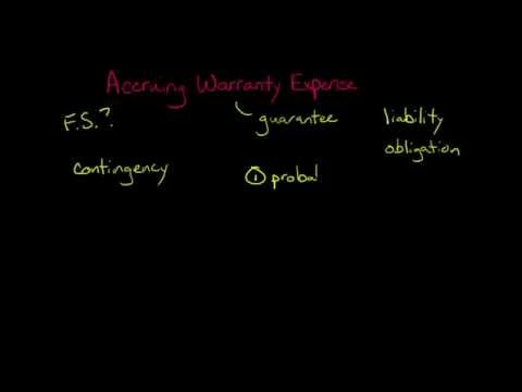 Accounting for Warranty Expense