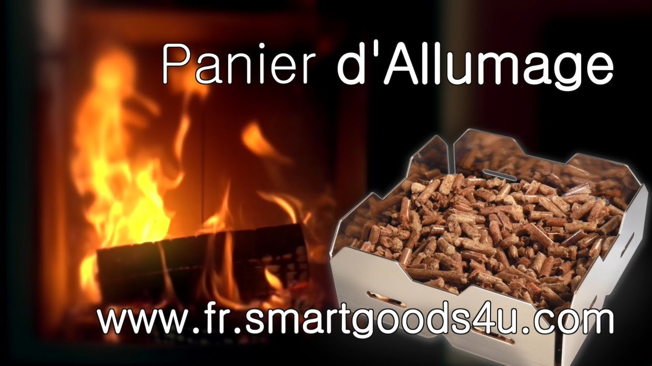 faire un feu sans tracas en utilisant des granules de bois et le panier d 39 allumage youtube. Black Bedroom Furniture Sets. Home Design Ideas