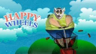 Król Julian gra w Happy Wheels!  [KaLi]