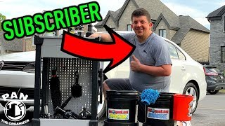 CLEANING AND DETAILING A SUBSCRIBER'S CAR !!!  Episode #1