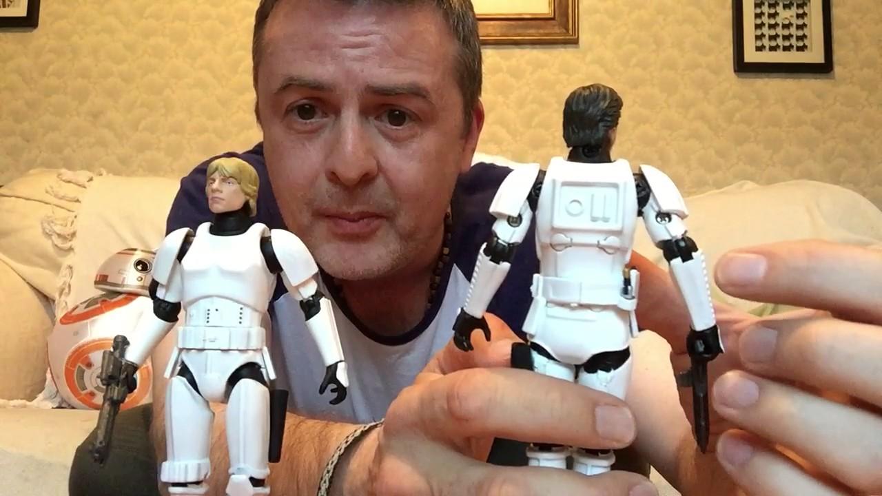 Star Wars Die Cast Elite Han Solo Luke Skywalker Stormtrooper Disguise 6 Inch