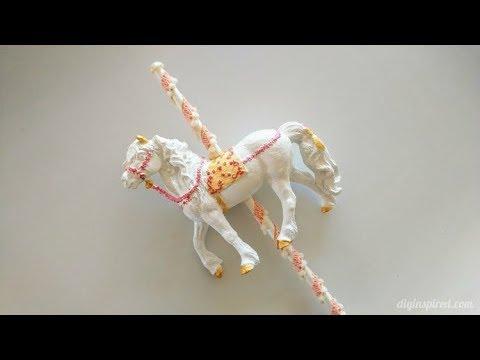 DIY Carousel Horse Cake Topper - YouTube
