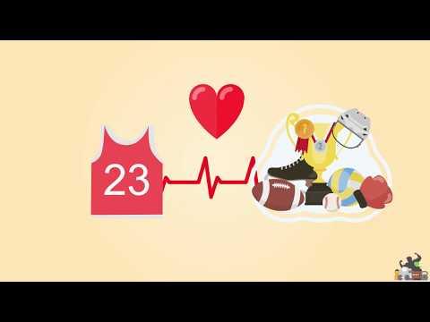 موشن جرافيك عن تطبيق معلومات صحية و رياضية