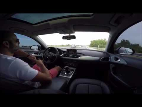 Audi Power - Driving with knees - Audi A7 😲💪