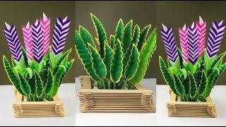 Paper Leaf | Paper Flowers | Paper Crafts For School | Paper Leaves for Paper Flowers Easy