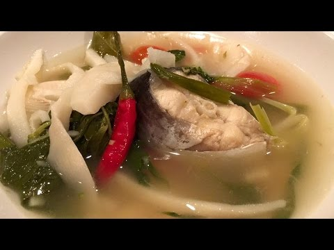 C/w Nana: Lao Sour Bamboo Shoot Soup with Catfish (ແກງໜໍ່ໄມ້ສົ້ມ = Gang Nawmai Som)