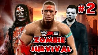 WWE 2K15 Zombies : Survival Mode - John Cena Adjusts Some Attitude #2