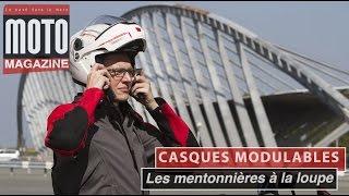 Casques moto modulables : l'ouverture des mentonnières en détails