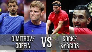 Dimitrov/Goffin Vs Sock/Kyrgios - Laver Cup 2018 (Highlights HD)